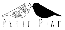 Petit Piaf Logo Schrift PNG 100px